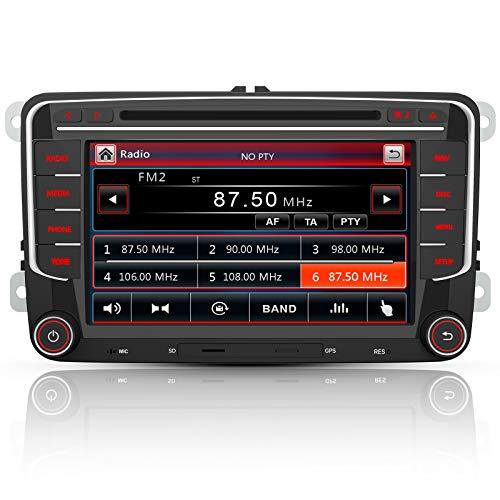 AWESAFE Radio mit Navi für VW Golf Skoda Seat, 2 DIN Autoradio mit...