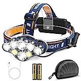 Migimi Lampe Frontale Super Puissante, Lampe Torche 8 Modes USB Rechargeable 13000 Lumens avec 8...