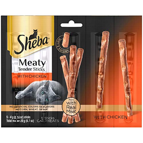 SHEBA-Meaty-Tender-Sticks-Soft-Cat-Treats-Chicken-Flavor-5-Treats-014-oz-Sticks-Pack-of-10