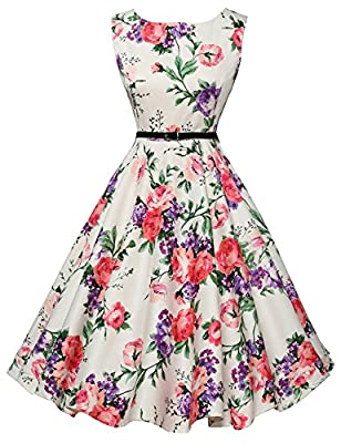 Features: Sleeveless & Boatneck, concealed zipper at back, comes with a belt as pictures show.(Cl463 Style don't include belt). It's great for daily casual, ball, party, banquet and other occasion NOTE: The authentic dresses in this product page are ...