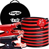 TOPDC Jumper Cables 4 Gauge 20 Feet -40℉ to 167℉ Heavy Duty Booster Cables with Carry Bag (4AWG x 20Ft)