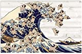 The Great Wave of Pug Poster Print Novelty Quote Meaningful,Motivational No Framed
