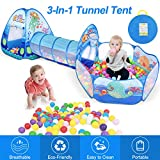ZNCMRR Kids Play Tunnel Tent, Crawl Tunnel & Ball Pit with Basketball Hoop, Foldable Ocean Series Tents for Boys, Girls, Babies & Toddlers for Indoor & Outdoor Pop-Up Tent