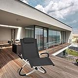 Relaxliege Liegestuhl Gartenliege Sonnenliege Gartenstuhl Klappstuhl faltbar Schwungliege - 2