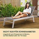 blumfeldt Renazzo Lounge Liegestuhl Sonnenliege Gartenliege Liegefläche weiß grau - 2