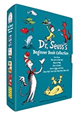 5 beloved beginner books by Dr. Seuss will be cherished by young & old alike. Ideal for reading aloud or reading alone. Includes: The Cat in the Hat, One Fish Two Fish Red Fish Blue Fish, Green Eggs and Ham, Hop on Pop and Fox in Socks. Perfect gift ...
