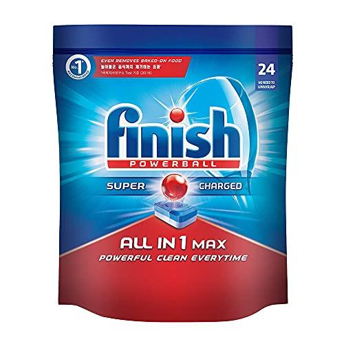 Finish Dishwasher 'All in 1 Max Powerball' - 24 Tablets | World's No. 1 Dishwashing Brand