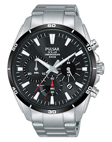 Pulsar Herren Chronograph Solar Uhr mit Edelstahl Armband PZ5059X1
