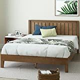 ZINUS Alexis Deluxe Wood Platform Bed Frame with Headboard / Wood Slat Support / No Box Spring Needed / Easy Assembly, Rustic Pine, Full
