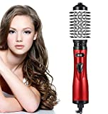 STRAIGHTENER Hot Air Brush, 3-in-1 Hair Dryer Brush Styler,Auto-Rotating Hot Air Spin Hair Brush for Styling, Ceramic Tourmaline Ionic Hair Curler Anti-Scald Curling Wands for Medium Length Hair