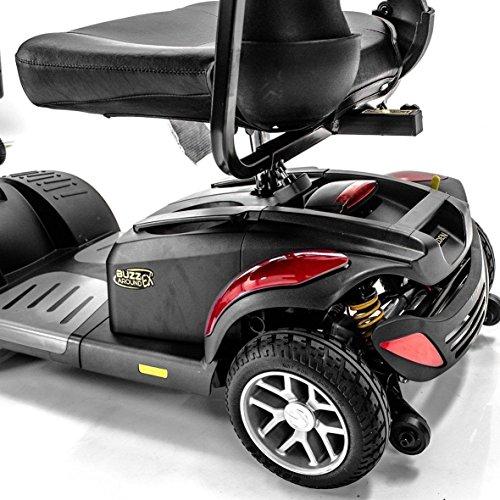 BUZZAROUND EX Extreme 4-Wheel Heavy Duty Long Range Travel Scooter, Red, 18-Inch Seat 3