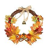 Jingyu Corona Navidad Corona otoño Artificial, Corona Puerta Entrada, Corona...