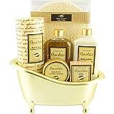 Gloss - Coffret cadeau de bain Pour Femme - Baignoire dorée - Collection Chocolate -...