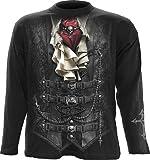 Spiral - Mens - Waisted - Longsleeve T-Shirt Black - L