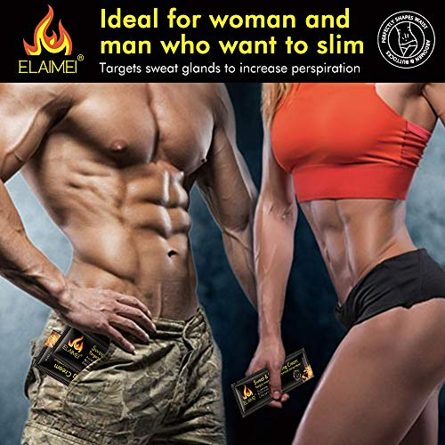 Hot Sweat Cream(10 pack), Extreme Cellulite Slimming & Firming Cream, Body Fat Burning Massage Gel Weight Losing, Treatment for Shaping Waist, Abdomen and Buttocks 9