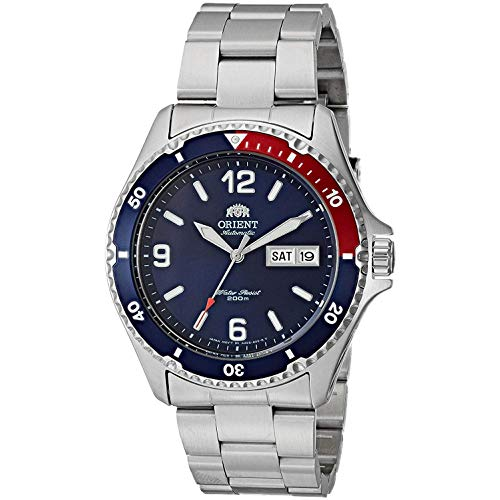 Orient Unisex Erwachsene Analog Automatik Uhr mit Edelstahl Armband FAA02009D9