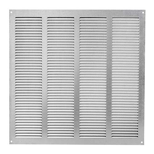 Griglia di ventilazione e aspirazione dellaria con montaggio ad incastro, ideale come protezione contro gli insetti, da 400 x 400 mm, zincata