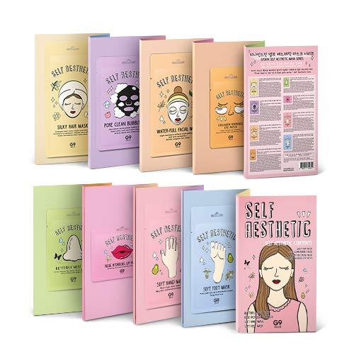 G9Skin Self Aesthetic Magazine Pack de Mascarillas de Cuidado Pies a Cabezas - 106 ml