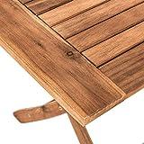 IHD Akazienholz Gartensitzgruppe 5tlg Gartentisch mit 4 Gartenstühlen klappbar - 5