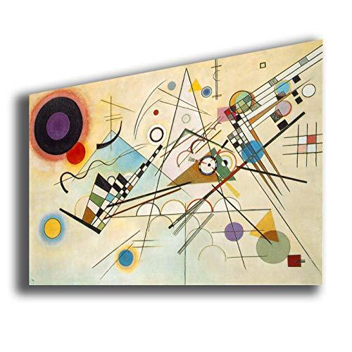 Quadro WASSILY KANDINSKY Composition VIII - RIPRODUZIONE STAMPA SU TELA Quadri Moderni Moderno Arte...