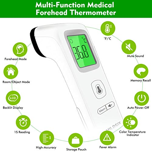 Forehead-Thermometer-for-Fever-Digital-Medical-Infrared-Thermometer-for-Baby-Kids-and-Adults-Non-Contact-Temporal-Thermometer-with-Instant-Accurate-Reading-Fever-Alarm-and-Memory-Function