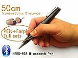 EDIMAEG HERO 898 Stylo Bluetooth avec oreillette espion 40 à 60 cm de long...