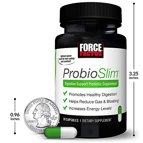 ProbioSlim Probiotic and Weight Loss Supplement for Women and Men with Probiotics, Burn Fat, Lose Weight, Reduce Gas, Bloating, Constipation, and Support Digestive Health, Force Factor, 180 Capsules 9
