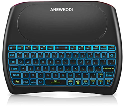 2.4GHz Mini Wireless Keyboard with Touchpad, ANEWKODI Rechargeable...