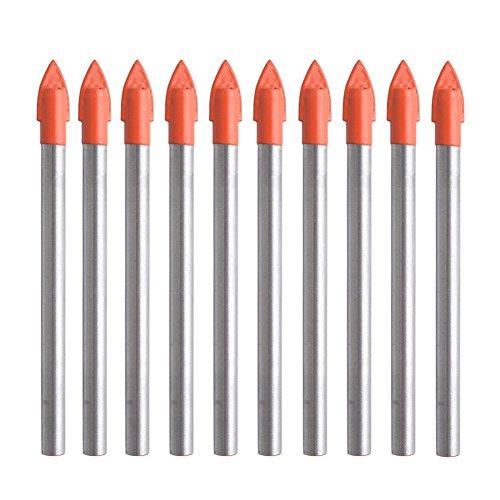 Gunpla 10 Piezas Juego De 6Mm Brocas De Carburo De Tungsteno Taladro De Perforación Para Azulejos, Cerámica, Vidrio Y Espejos