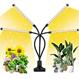 EZORKAS LED Grow Light, 80W 4 Head Timing, 5 Dimmable Levels, Plant Grow Light for Indoor Plant with...