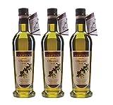 ARISTOS kaltgepresstes Extra Natives Olivenöl ( Vergine ) – 3x 500 ml feinstes original griechisches Koroneiki-Olivenöl naturtrüb aus ökologischem eigenem Anbau aus Messina
