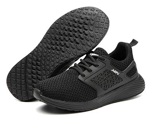 Botas de Seguridad para Hombre Mujer Unisex con Puntera de Acero Antideslizante Calzado Zapatos de Seguridad Deportivo Trabajo Ligero Negro 42 EU