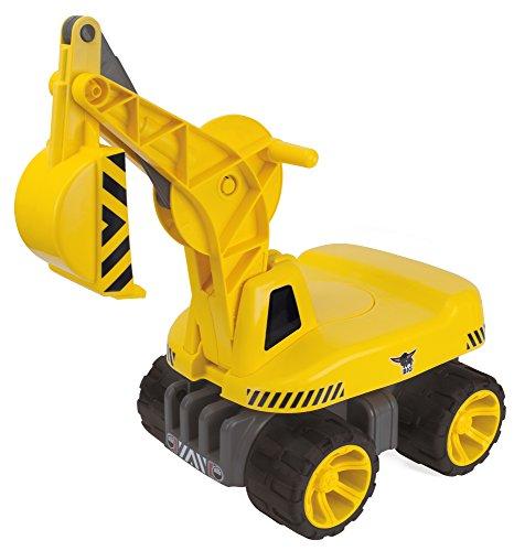 BIG - Power-Worker Maxi-Digger - Kinderfahrzeug, geeignet als Sandspielzeug und für das Kinderzimmer, Baggerfahrzeug zum Sitzen bis 50 kg, für Kinder ab 2 Jahren