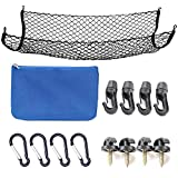 SNBLO Cargo Net for SUV,Truck Bed or Trunk, 41 x 25 Inches Elastic Nylon Mesh Universal Rear Car Organizer Net, with Bonus Free Hooks