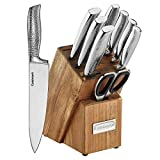 Cuisinart MAIN-43205 10-Piece Elite Series Hammered Collection Block Set, Stainless Steel
