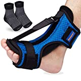 Plantar Fasciitis Splint Night Foot Brace, Dorsal Night Splint for Plantar Fasciitis, Adjustable...