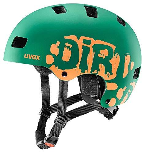 Uvex Unisex Jugend, Kid 3 cc Fahrradhelm, Dirtbike DarkGreen Orange Mat 51-55cm