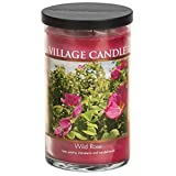 Village Candle Wild Rose 24 oz Glass Tumbler Scented Candle, Large
