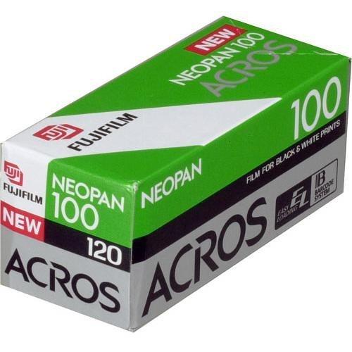 Fujifilm Neopan Acros白黒負フィルムISO 100、120 mm