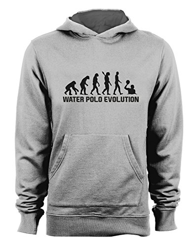 t-shirteria Felpa con Cappuccio Water Polo Evolution - Evolution - Water Polo - pallanuoto - Sport - Humor - in Cotone