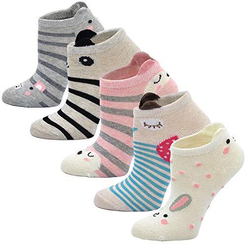 LOFIR Calzini Divertenti in Cotone per Bambina Calzini con Animali, Calze Glitter Bambina Calze...