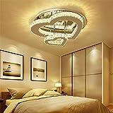 LIGHTINTHEBOX-LIGHT Lámpara de Techo LED Luces de Techo de Cristal Regulable Lámpara de Techo de Cristal en Forma de corazón Cálido Romántico Salón Dormitorio Decorativo,25cmsingleheartwhitelight