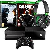 Console Xbox One Call of Duty : Black Ops III Halo 5 : Guardians Micro-casque ear force recon 50X pour Xbox One/PS4/PC/Mac/Appareil Mobile - Nécessite un adaptateur pour se brancher à la manette