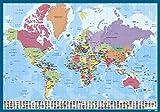 Grupo Erik - Sous-Main Bureau Carte du Monde, Version Française | Sous-Main...