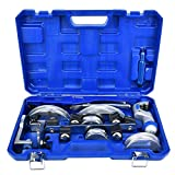 WEI-LUONG Llaves CT-999RF Tubo Bender Bending Tool Kit Manual de Tubería Incluye 3/8 1/2 5/8 3/4 7/8 Pulgadas y 5 Tamaños Herramientas