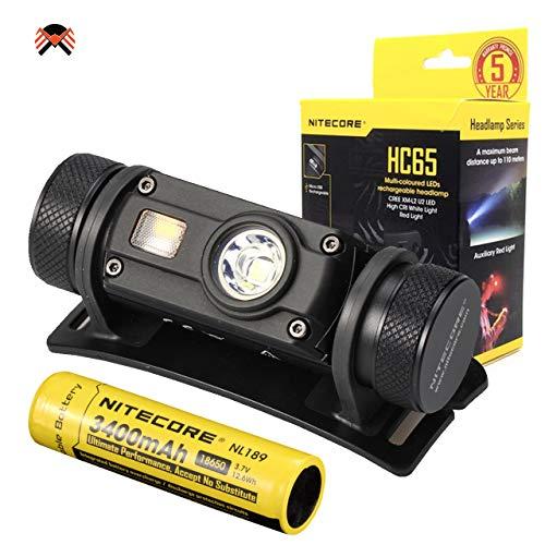 NITECORE HC65 - Linterna Frontal Alta Potencia - 1000 Lumenes...