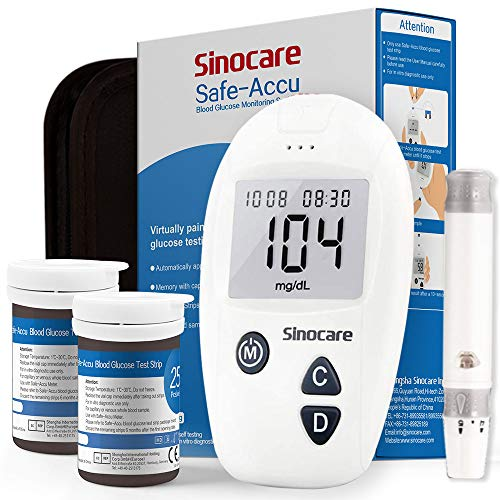 Glucosa en sangre kit de Safe Accu control de la diabetes ki