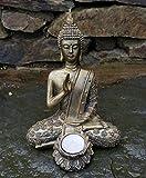 Photophore Bouddha assis Statue intérieur Jardin extérieur Décoration