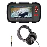 Stealth Cam SD Card Viewer (for Videos/Images) with 4.3' Touch Screen and Tascam TH-03 Headphones