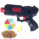 Cp-Tree Toy CS Game Gun Shooting 2-in-1 Air Soft Foam Bullet and 10400pcs Water Polymer Ball Pistol Projectile (Red)